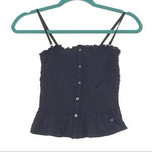ABERCROMBIE AND FITCH CROP TANK WITH SMOCKING